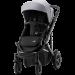BRITAX Smile 3 Yhdistelmävaunu FROST GREY/BROWN HANDLE + Baby Safe kaukalo Graphite Marble + BS I-size jalusta