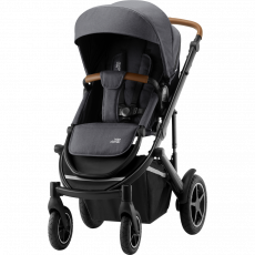 BRITAX Smile III - Comfort Plus Paketti - Midnight Grey/Brown Handle + Graphite Marble