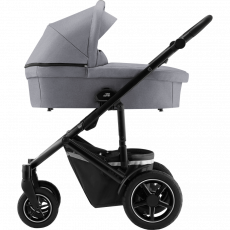 BRITAX Smile 3 Yhdistelmävaunu FROST GREY/BROWN HANDLE + Baby Safe kaukalo Graphite Marble + BS I-size jalusta