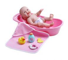 *JC TOYS Vauvanukke 33 cm kylpytarvikkeilla