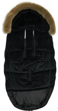 DOOKY Iso Lämpöpussi Black Furry