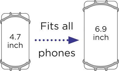 DOOKY Phone holder black puhelimen pidike