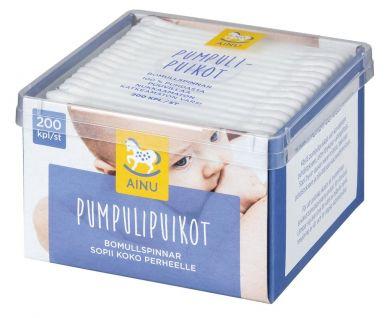 AINU Pumpulipuikot 200 kpl