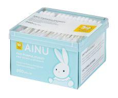AINU Eko-Pumpulipuikot, paperivarsi 200 kpl
