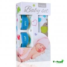 T-TOMI Baby Set Bambuharso 80 x 100 cm + Kiinnitysclipsit