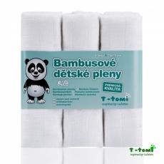 T-TOMI Valkoiset Bambu Harsovaipat 70x70cm, 3kpl/pkt