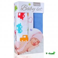 T-TOMI Baby Set Bambuharsot (pyyhkeet) 80 x 100 cm 2kpl/pkt