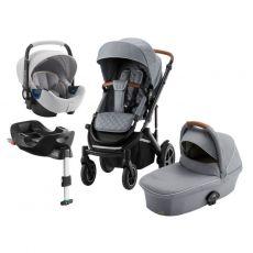 BRITAX Smile III - Comfort Plus Paketti - Nordic Grey/Brown Handle + TARVIKEPAKETTI KAUPAN PÄÄLLE! ARVO n. 200 €