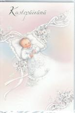 Kastepäivänä (Tytölle, vaalea roosa)