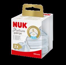 NUK Nature Sense Silikonipullotutit, 6-18kk L