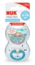 NUK Happy Days Silikoni Huvitutit 6-18kk BOXI!