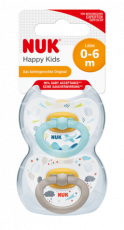 NUK Happy Kids Latex Huvitutit 0-6kk BOXI!