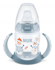 NUK FC Limited Edition Learner Bottle Nokkapullo 6-18 kk, 150ml SNOW