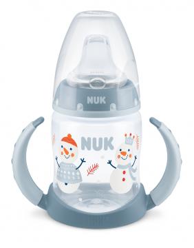 NUK FC Limited Edition Learner Bottle Nokkapullo 6-18 kk, 150ml SNOW